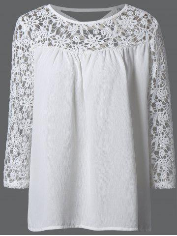Store Laciness Cutwork Crossover Top