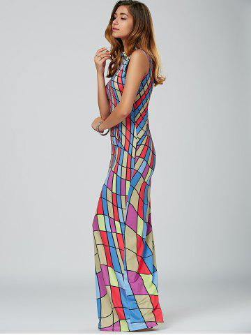 Outfits High Neck Floor Length Bodycon Maxi Dress - S COLORMIX Mobile