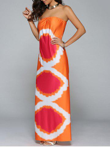 Buy Tie Dye Beach Bandeau Tube Top Maxi Dress