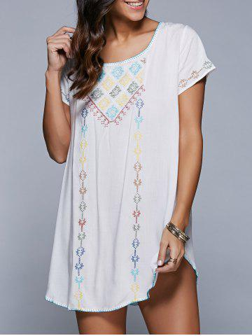 Shops Embroidered Backless Cover Up Dress