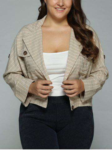 Latest Buttoned Checked Pockets Jacket