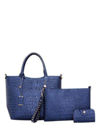 Best Embossed PU Leather Zipper Tote Bag