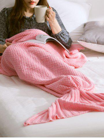 Outfit Warmth Comfortable Sofa Knitted Mermaid Tail Blanket