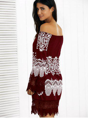 Off-The-Shoulder Laciness Paisley Dress от Rosegal.com INT