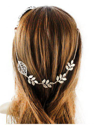 Discount Tree Leaf Embellished Hair Accessory GOLDEN