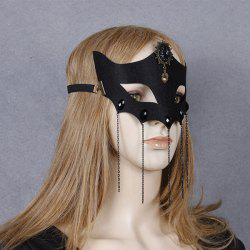 Masque Fox Coeur Elastic Band Hair Halloween -