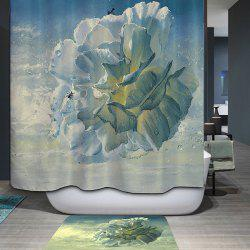 Waterproof Mouldproof Flower Type Printed Shower Curtain - COLORMIX