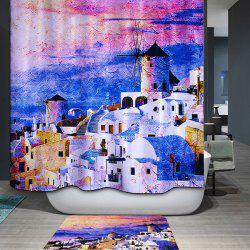Waterproof Mouldproof Castles Printed Shower Curtain - COLORMIX