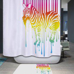 High Quality Waterproof Mouldproof Colors Zebra Printed Shower Curtain -