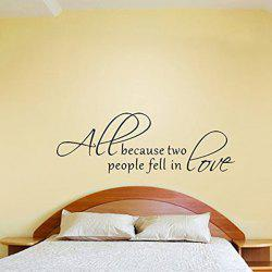Love Proverbs Waterproof Removable Vinyl Wall Stickers Custom