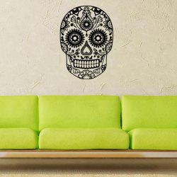 Removable Waterproof Halloween Skull Art Vinyl Wall Stickers Custom