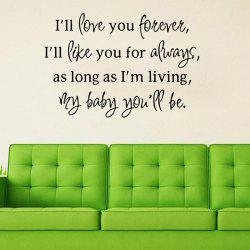 Love Proverbs Removable Art Vinyl Wall Stickers Custom