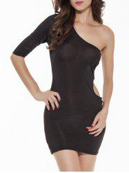 Cut Out One-Shoulder Short Bodycon Dress