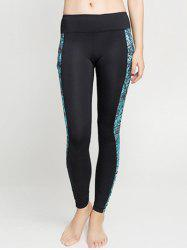 Tied-Dyed Spliced Sporty Leggings -