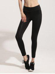 Stretchy Mesh Spliced Yoga Leggings