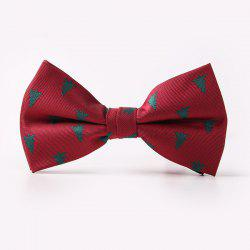 Christmas Tree Bow Tie - WINE RED