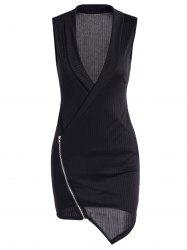 Zippered Bodycon Dress -