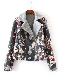 Floral Print Furred Jacket