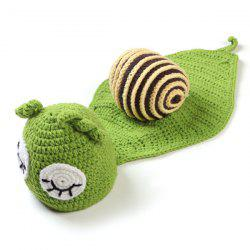 Cartoon Snail Shape Hand Knitted Baby Blankets -