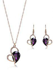 Faux Amethyst Hollowed Jewelry Set
