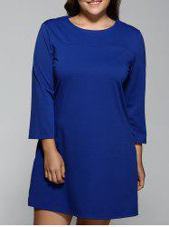 3/4 Sleeve Bowknot A-Line Dress