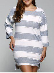 Striped Casual Straight Dress -