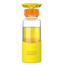 420ML Faucet Valve Cover Transparent Water Glass With Silicon Case - YELLOW