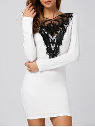 Embroidery Mesh-Insert Slimming Dress
