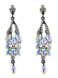 Vintage Rhinestone Faux Gem Layered Earrings