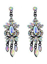 Rhinestone Faux Gem Layered Drop Earrings -