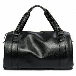 Barrel Business Duffle Bag - BLACK