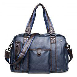 Metallic Vintage Casual Briefcase - BLUE