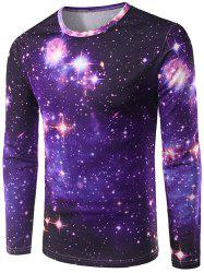 3D Starry Sky Print Crew Neck Galaxy T-Shirt