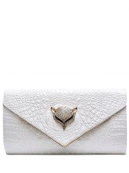 PU Leather Rhinestones Embossing Evening Bag