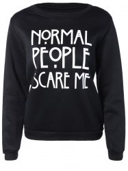 Letters Print Pullover Sweatshirt
