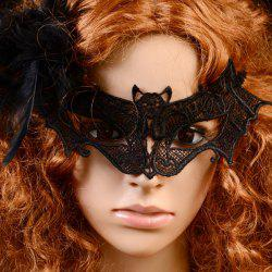 Gothic Style Bat Lace Party Mask - BLACK