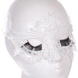 Gothic Style Fox Shape Lace Party Mask - WHITE