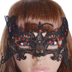 Gothic Style Butterfly Lace Party Mask - BLACK