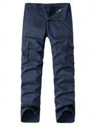 Multi-Pocket Zipper Fly Straight Leg Cargo Pants