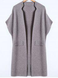 Bat-Wing Sleeve Loose Cashmere Cardigan -