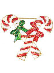 Alloy Candy Cane Archets Broche de Noël - Or