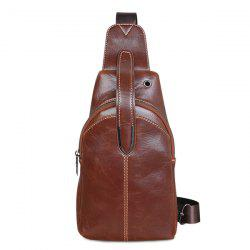Adjustable Shoulder Strap Chest Bag - BROWN