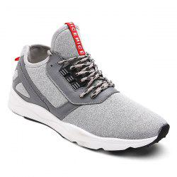 Color Block PU Leather Insert Athletic Shoes - LIGHT GRAY