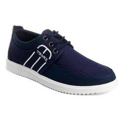 Splicing Stitching Lace-Up Casual Shoes -