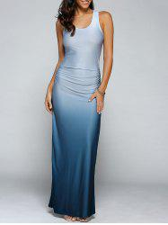 Gradient Color Maxi Dress - LIGHT BLUE