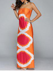 Maxi Tie Dye Tube Dress