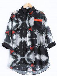Printed 3/4 Sleeve Blouse - COLORMIX 2XL