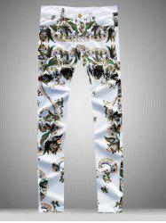 Slim Fit All Over Flower Printed Skinny Jeans