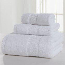 3PCS Soft and Comfort Cotton Bath Towel Set - MILK WHITE