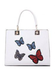 Metal Butterfly Pattern Embroidery Tote Bag